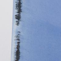 Blu con finitura nera a pennello