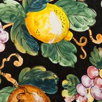 Decoro frutta base nera