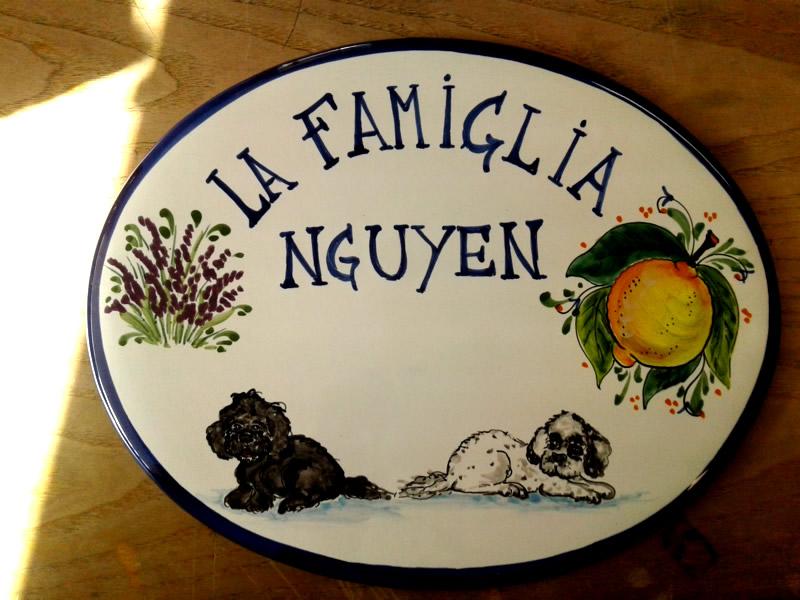 Targhette Per Porte In Ceramica.Targhe Ovali Arte E Ceramica Toscana